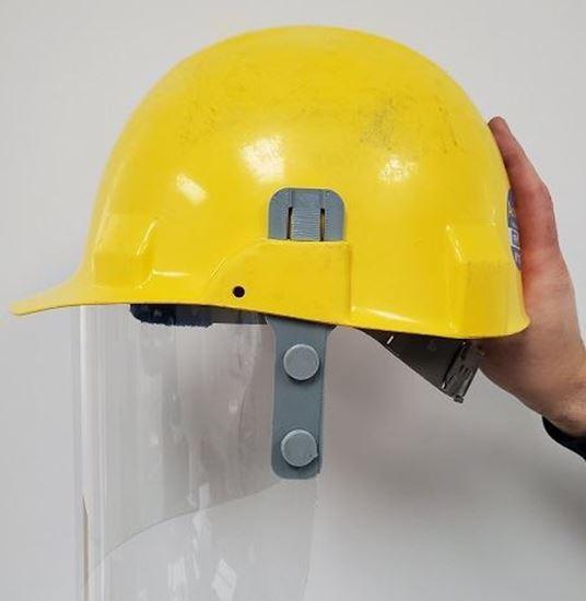 Image sur Visière avec fixation pour casque FPE-04