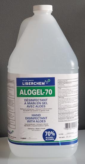Image sur GEL Désinfectant pour les mains 70% NPN 80098316 / Caisse de 4x 4 litres